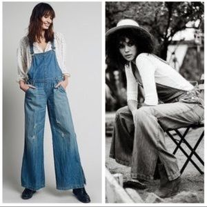 Free People D Ring overalls